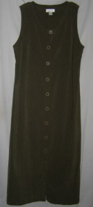 Olive Suede Maxi Dress