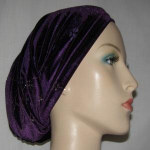 Purple Silver Glitter Floral Undercap