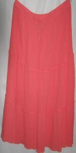 Tangerine Gauze Cotton Boho Skirt