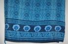 Turquoise Navy Wrap Skirt