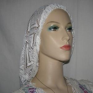 White Crochet Snood