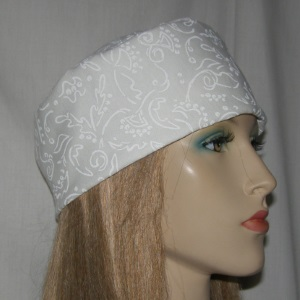 White Design Buchari Kippah