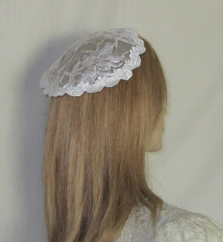 Floral Lace Bar Bat Mitzvah Head Covering Kippah Hair Covers Simcha Headcovering